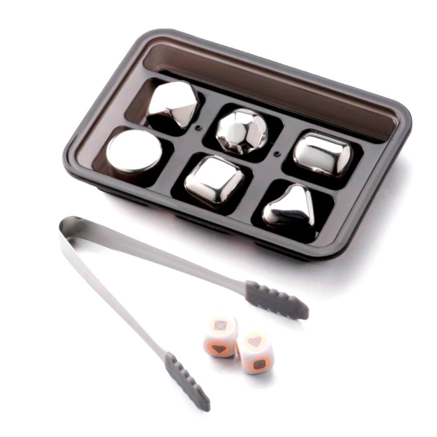 Охлаждающие камни для виски Circle Joy Stainless Steel Ice Block (Assorted) (CJ-BK02)