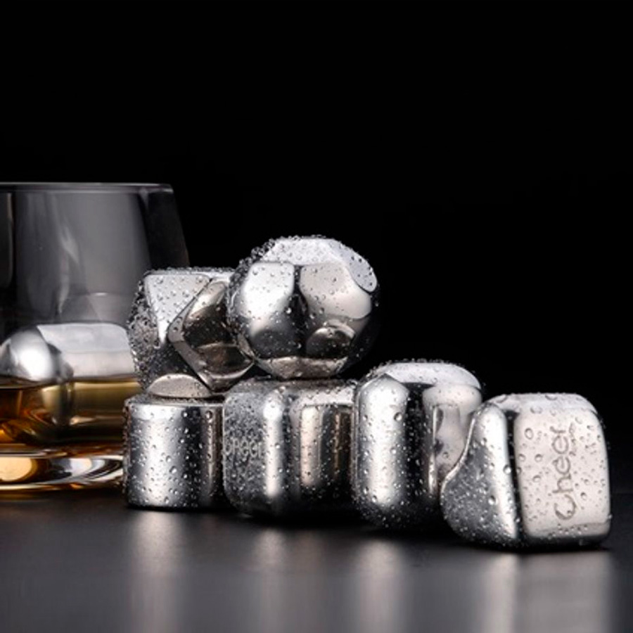 Охлаждающие камни для виски Circle Joy Stainless Steel Ice Block (Assorted)
